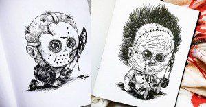 Famosos personajes de terror convertidos en tiernos bebés