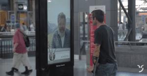 Billboard interactivo regala pasajes para conocer las montañas de Suecia