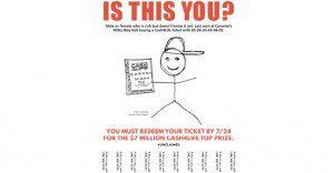 McCann busca al ganador de $7 millones en la lotería a través de una inusual campaña