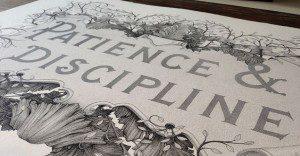 Paciencia y Disciplina: una obra que tardó 300 horas para su creación