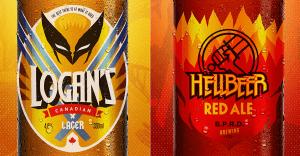 Un artista crea divertidos conceptos de cerveza basados en antihéroes de famosos cómics