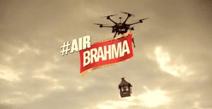 Brahma llega por los cielos en playas argentinas