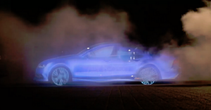 Un anuncio creado con vapor presenta lo nuevo de Audi