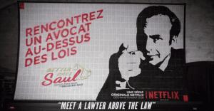 "Un ingenioso billboard de Netflix para promocionar ""Better call Saul"""