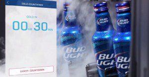 Un refrigerador de Bud Light que te avisa cuántas cervezas te quedan