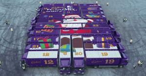 Cadbury crea un gigantesco calendario de adviento para esta navidad