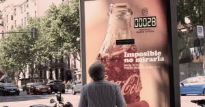Un cartel de Coca-Cola que cuenta en tiempo real cuántas veces la gente lo ha mirado
