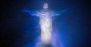 Cristo del Corcovado fue iluminado con colores de Argentina para una nueva campaña
