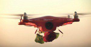 Un dron que hace las de cupido para este San Valentín