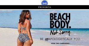 Conocida modelo de talla grande en bikini se convierte un éxito en Internet