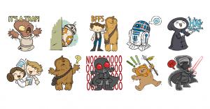 Los stickers de La Guerra de las Galaxias llegaron a Facebook