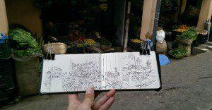 Un cuaderno de dibujo se convierte en un testigo del tiempo para este singular viajero