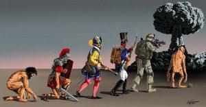 Una mirada oscura y satírica al mundo de las guerras