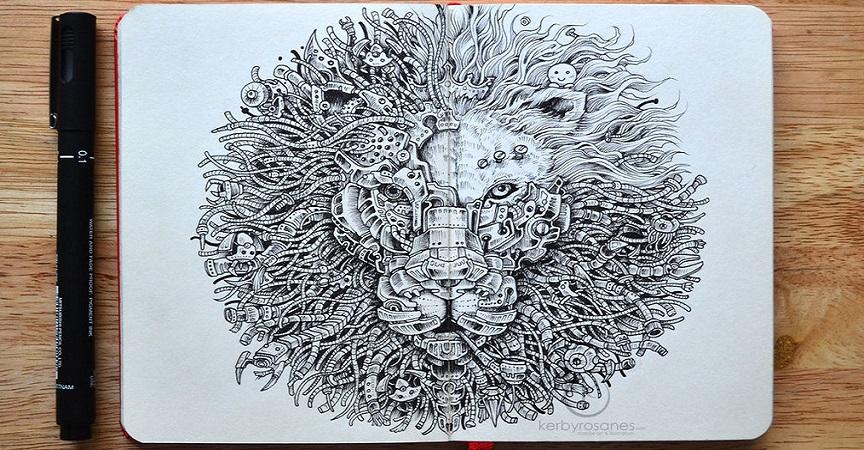 Cuando De Hacer Increíbles Dibujos A Mano Se Trata Kerby Rosanes