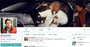 Marty McFly llega del pasado y abre cuenta en Twitter