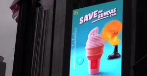 Una acción que busca salvar a los helados de McDonald´s del calor