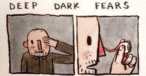 Original forma de un artista para reflejar varias de las fobias que lo aquejan