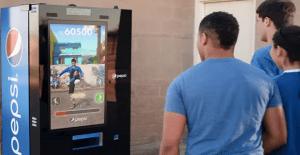 Una vending machine interactiva que pone a prueba tus habilidades con el balón