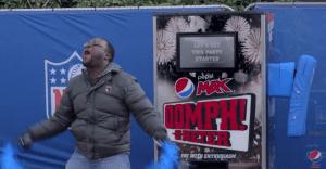 Una vending machine de Pepsi Max para el hacer sentir al público inglés como norteamericanos