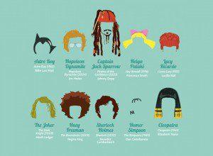 Personajes de la cultura Pop son identificados por su peinado