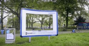 Paneles muestran la excelente imagen de las nuevas pantallas de Samsung