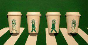 Un ilustrador crea los más divertidos doodles con la sirena de una marca de café