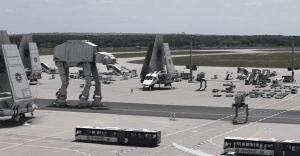 Las naves de Star Wars invaden el aeropuerto de Frankfurt