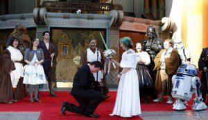 Una fantástica boda al estilo Star Wars