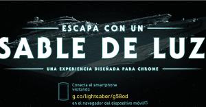 Convierte tu smartphone en un sable laser con esta nueva experiencia de Google