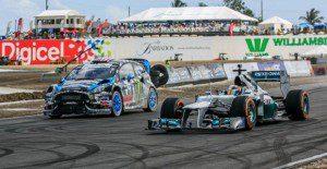Lewis Hamilton y Ken Block se baten en un impresionante duelo