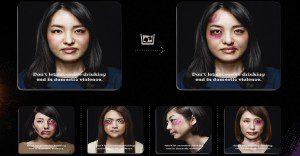 Un posavasos que reacciona contra la violencia hacia la mujer