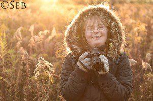 Padre e hija con síndrome de Down se enfrentan a un duelo de fotografía