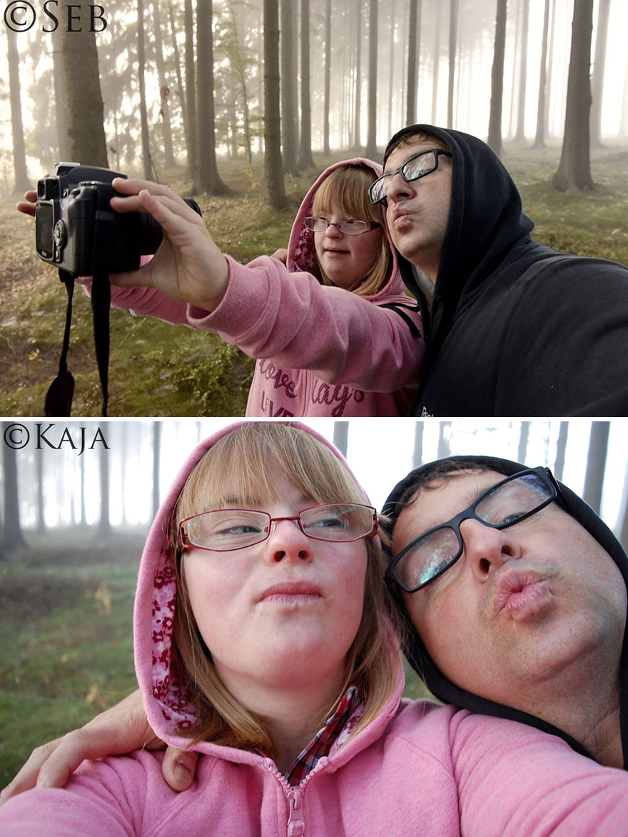Padre e hija con síndrome de Down se enfrentan a un duelo de fotografía-2