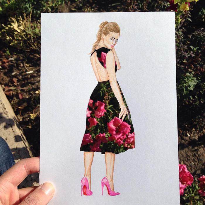 artista-lleva-diseño-de-modas-a-otro-nivel-el-resultado-es-impresionante-arbusto