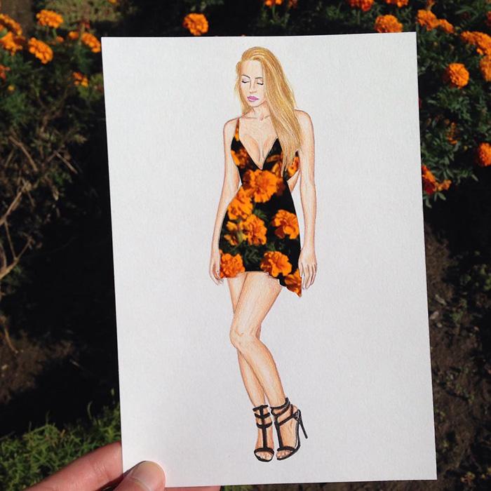 artista-lleva-diseño-de-modas-a-otro-nivel-el-resultado-es-impresionante-flores
