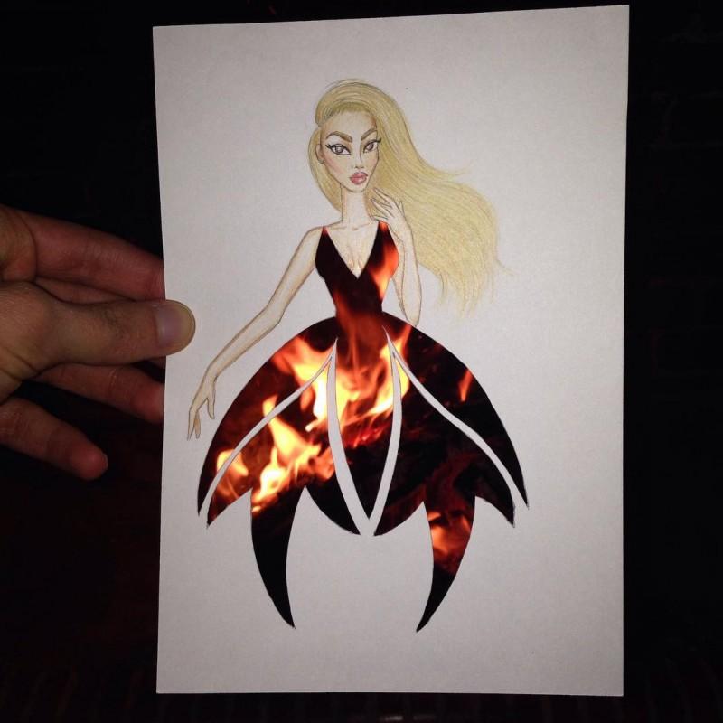 artista-lleva-diseño-de-modas-a-otro-nivel-el-resultado-es-impresionante-fuego