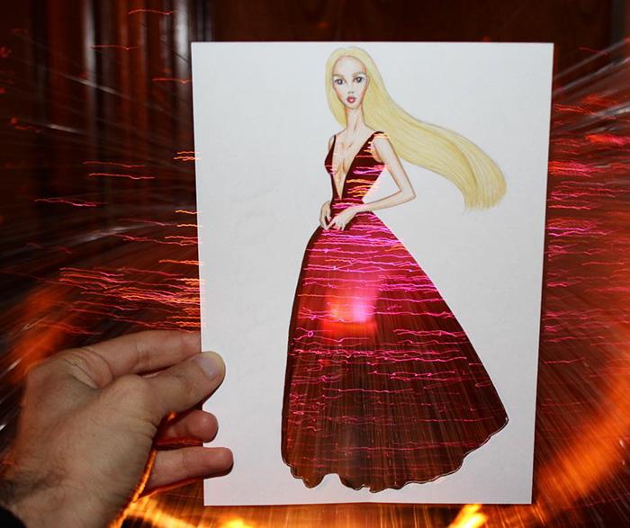 artista-lleva-diseño-de-modas-a-otro-nivel-el-resultado-es-impresionante-luces 2