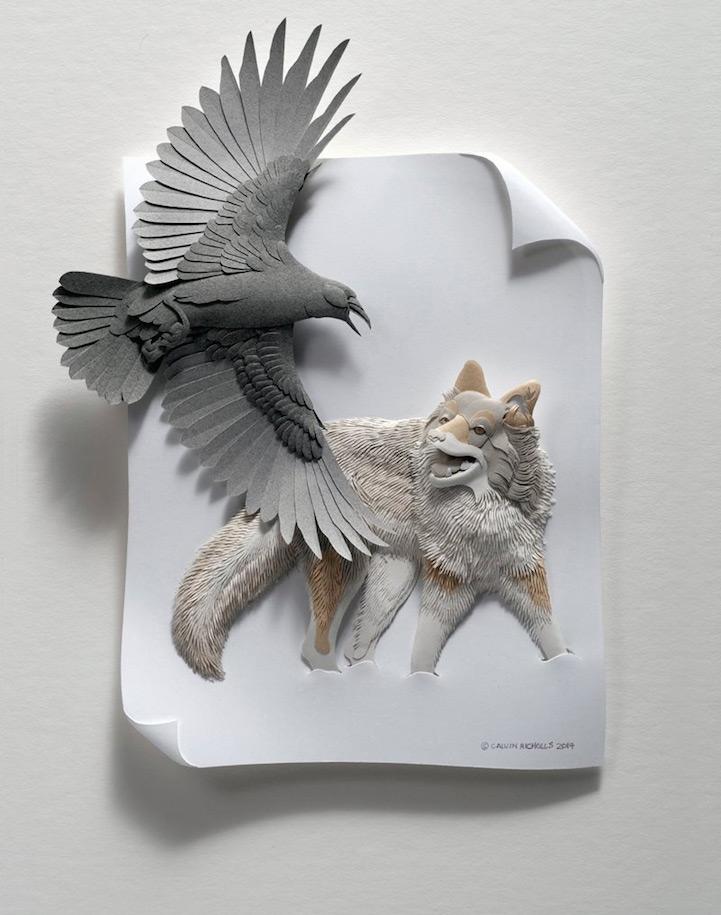 artista-transforma-el papel-en-animales-zoológico-3