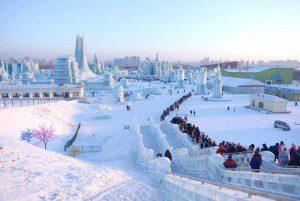 China se convierte en un paraíso de hielo