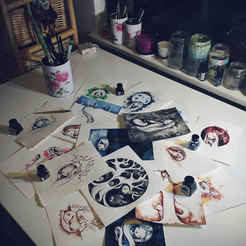 encantadoras-ilustraciones-hechas-con-tinta-y-acuarela-9