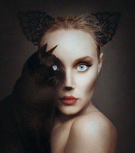 Fotógrafa remplaza su ojo por el de otros animales en sus autorretratos