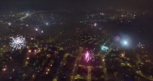 Un dron captura la noche de año nuevo en Lima de una espectacular manera