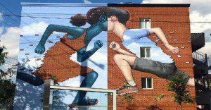 Este artista transforma paredes sucias o en abandono en algo sensacional