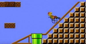 Mario Bros se pone una mano en el corazón por los discapacitados