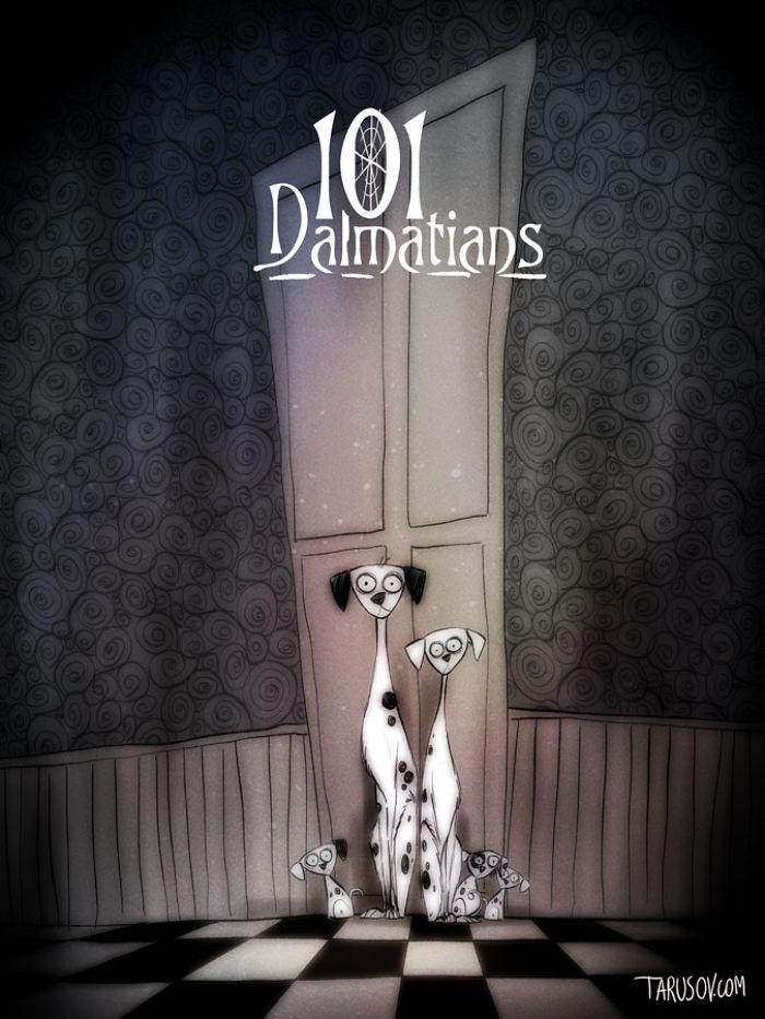 personajes de Disney creados por Tim Burton 101 dalmatas
