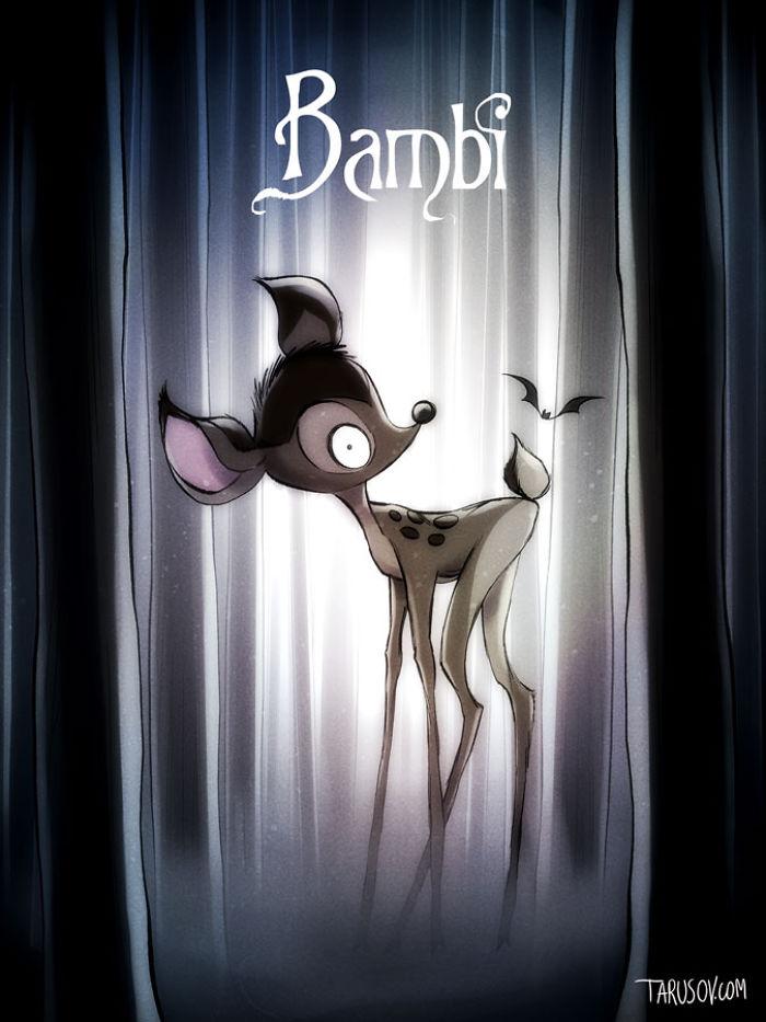 personajes de Disney creados por Tim Burton bambi