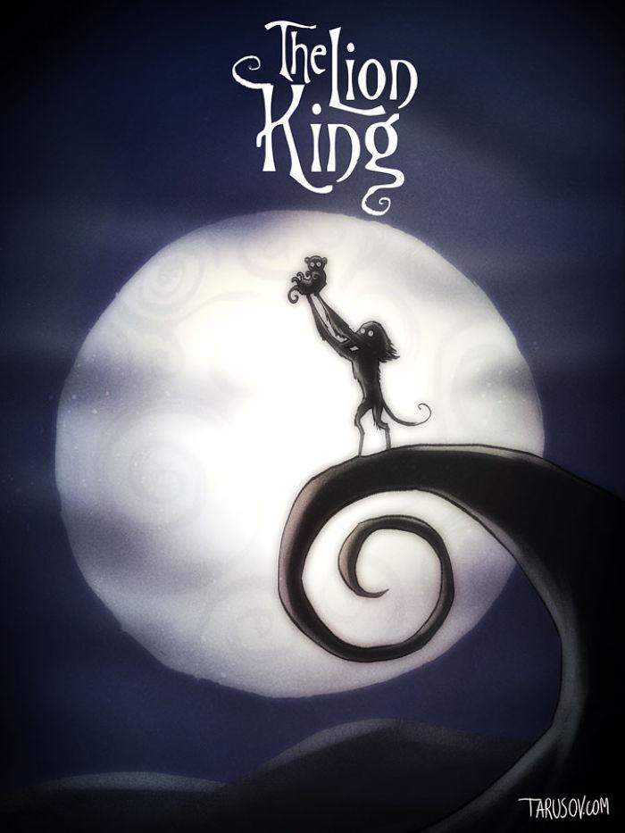 personajes de Disney creados por Tim Burton rey leon