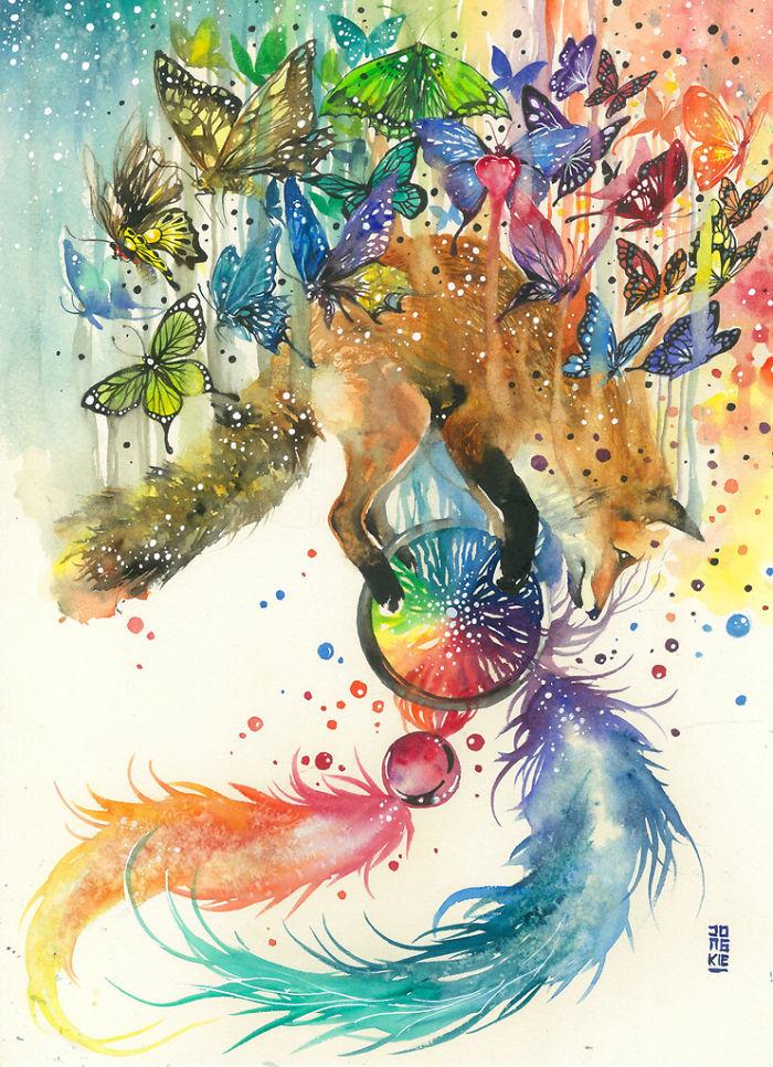 pinturas-acuarela-dan-vida-hermosos-animales-13