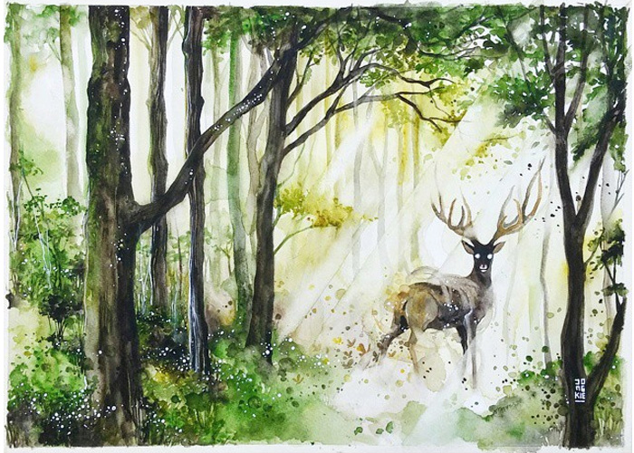 pinturas-acuarela-dan-vida-hermosos-animales-14
