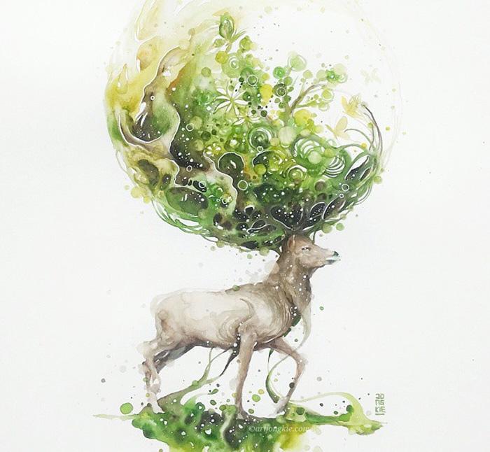 pinturas-acuarela-dan-vida-hermosos-animales-15